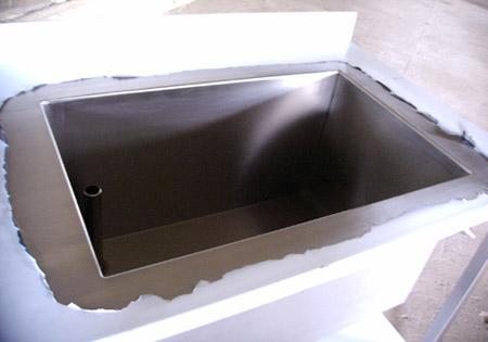 All inox plaatbewerking balustrades industriële keukens tafels
